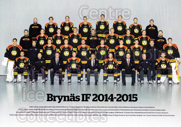 2014-15 Swedish Brynas IF Tigers Postcards #29 Team Photo, Brynas IF Tigers<br/>2 In Stock - $3.00 each - <a href=https://centericecollectibles.foxycart.com/cart?name=2014-15%20Swedish%20Brynas%20IF%20Tigers%20Postcards%20%2329%20Team%20Photo,%20Bry...&price=$3.00&code=656111 class=foxycart> Buy it now! </a>
