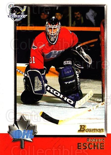 1998 Bowman CHL #1 Robert Esche<br/>10 In Stock - $1.00 each - <a href=https://centericecollectibles.foxycart.com/cart?name=1998%20Bowman%20CHL%20%231%20Robert%20Esche...&quantity_max=10&price=$1.00&code=65654 class=foxycart> Buy it now! </a>