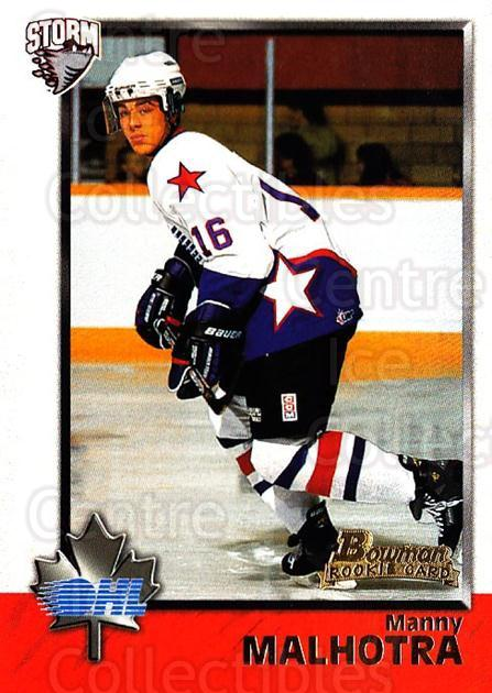 1998 Bowman CHL #10 Manny Malhotra<br/>10 In Stock - $1.00 each - <a href=https://centericecollectibles.foxycart.com/cart?name=1998%20Bowman%20CHL%20%2310%20Manny%20Malhotra...&quantity_max=10&price=$1.00&code=65655 class=foxycart> Buy it now! </a>