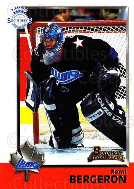 1998 Bowman CHL #102 Remi Bergeron<br/>11 In Stock - $1.00 each - <a href=https://centericecollectibles.foxycart.com/cart?name=1998%20Bowman%20CHL%20%23102%20Remi%20Bergeron...&quantity_max=11&price=$1.00&code=65658 class=foxycart> Buy it now! </a>