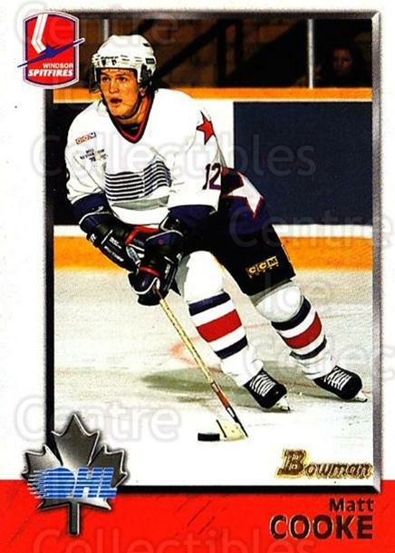 1998 Bowman CHL #11 Matt Cooke<br/>3 In Stock - $1.00 each - <a href=https://centericecollectibles.foxycart.com/cart?name=1998%20Bowman%20CHL%20%2311%20Matt%20Cooke...&quantity_max=3&price=$1.00&code=65666 class=foxycart> Buy it now! </a>