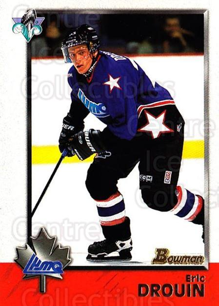 1998 Bowman CHL #111 Eric Drouin<br/>10 In Stock - $1.00 each - <a href=https://centericecollectibles.foxycart.com/cart?name=1998%20Bowman%20CHL%20%23111%20Eric%20Drouin...&quantity_max=10&price=$1.00&code=65668 class=foxycart> Buy it now! </a>