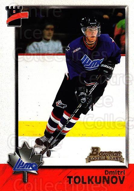 1998 Bowman CHL #117 Dmitri Tolkunov<br/>11 In Stock - $1.00 each - <a href=https://centericecollectibles.foxycart.com/cart?name=1998%20Bowman%20CHL%20%23117%20Dmitri%20Tolkunov...&quantity_max=11&price=$1.00&code=65674 class=foxycart> Buy it now! </a>