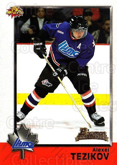 1998 Bowman CHL #118 Alexei Tezikov<br/>11 In Stock - $1.00 each - <a href=https://centericecollectibles.foxycart.com/cart?name=1998%20Bowman%20CHL%20%23118%20Alexei%20Tezikov...&quantity_max=11&price=$1.00&code=65675 class=foxycart> Buy it now! </a>
