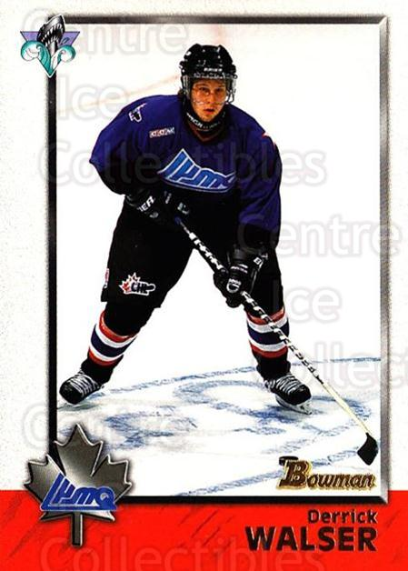 1998 Bowman CHL #119 Derrick Walser<br/>4 In Stock - $1.00 each - <a href=https://centericecollectibles.foxycart.com/cart?name=1998%20Bowman%20CHL%20%23119%20Derrick%20Walser...&quantity_max=4&price=$1.00&code=65676 class=foxycart> Buy it now! </a>