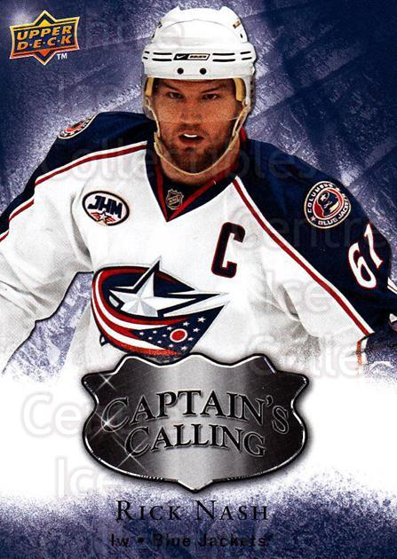 2009-10 Upper Deck Captains Calling #5 Rick Nash<br/>1 In Stock - $2.00 each - <a href=https://centericecollectibles.foxycart.com/cart?name=2009-10%20Upper%20Deck%20Captains%20Calling%20%235%20Rick%20Nash...&quantity_max=1&price=$2.00&code=656784 class=foxycart> Buy it now! </a>