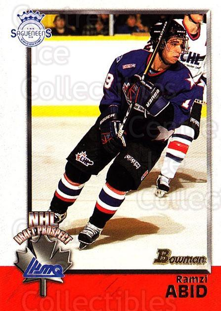 1998 Bowman CHL #121 Ramzi Abid<br/>7 In Stock - $1.00 each - <a href=https://centericecollectibles.foxycart.com/cart?name=1998%20Bowman%20CHL%20%23121%20Ramzi%20Abid...&quantity_max=7&price=$1.00&code=65679 class=foxycart> Buy it now! </a>