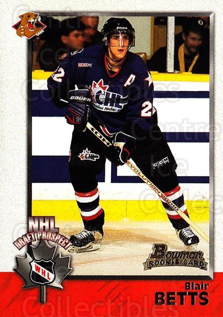 1998 Bowman CHL #124 Blair Betts<br/>11 In Stock - $1.00 each - <a href=https://centericecollectibles.foxycart.com/cart?name=1998%20Bowman%20CHL%20%23124%20Blair%20Betts...&quantity_max=11&price=$1.00&code=65682 class=foxycart> Buy it now! </a>
