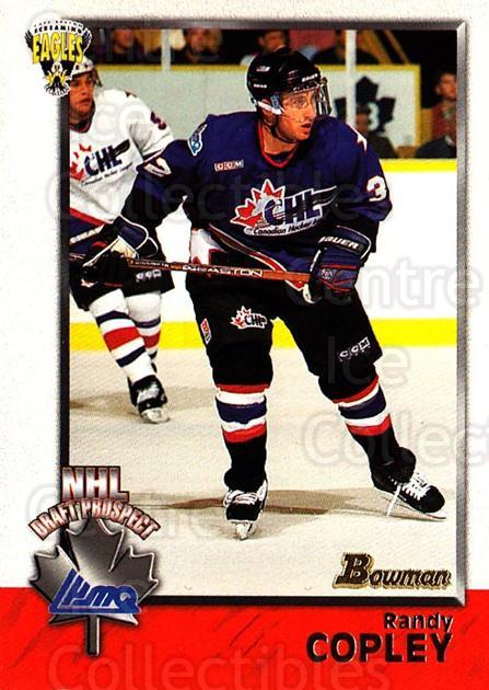 1998 Bowman CHL #125 Randy Copley<br/>11 In Stock - $1.00 each - <a href=https://centericecollectibles.foxycart.com/cart?name=1998%20Bowman%20CHL%20%23125%20Randy%20Copley...&quantity_max=11&price=$1.00&code=65683 class=foxycart> Buy it now! </a>
