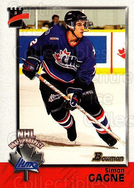 1998 Bowman CHL #126 Simon Gagne<br/>11 In Stock - $1.00 each - <a href=https://centericecollectibles.foxycart.com/cart?name=1998%20Bowman%20CHL%20%23126%20Simon%20Gagne...&quantity_max=11&price=$1.00&code=65684 class=foxycart> Buy it now! </a>