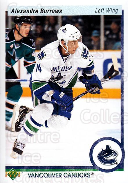 2010-11 Upper Deck 20th Anniversary Parallel #9 Alexandre Burrows<br/>1 In Stock - $2.00 each - <a href=https://centericecollectibles.foxycart.com/cart?name=2010-11%20Upper%20Deck%2020th%20Anniversary%20Parallel%20%239%20Alexandre%20Burro...&quantity_max=1&price=$2.00&code=656917 class=foxycart> Buy it now! </a>