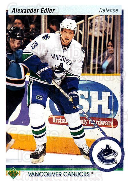 2010-11 Upper Deck 20th Anniversary Parallel #10 Alexander Edler<br/>1 In Stock - $2.00 each - <a href=https://centericecollectibles.foxycart.com/cart?name=2010-11%20Upper%20Deck%2020th%20Anniversary%20Parallel%20%2310%20Alexander%20Edler...&quantity_max=1&price=$2.00&code=656918 class=foxycart> Buy it now! </a>