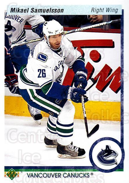 2010-11 Upper Deck 20th Anniversary Parallel #11 Mikael Samuelsson<br/>1 In Stock - $2.00 each - <a href=https://centericecollectibles.foxycart.com/cart?name=2010-11%20Upper%20Deck%2020th%20Anniversary%20Parallel%20%2311%20Mikael%20Samuelss...&quantity_max=1&price=$2.00&code=656919 class=foxycart> Buy it now! </a>
