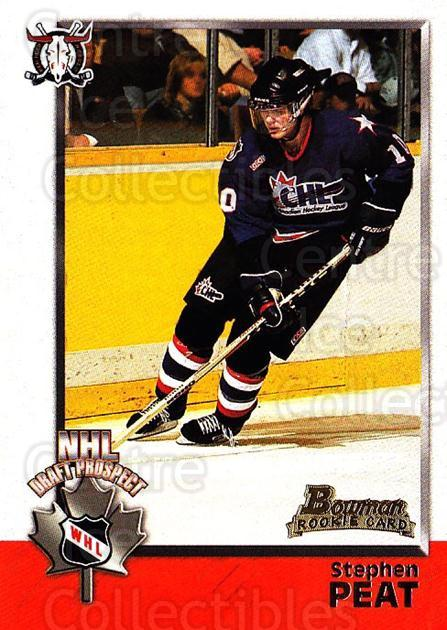 1998 Bowman CHL #136 Stephen Peat<br/>10 In Stock - $1.00 each - <a href=https://centericecollectibles.foxycart.com/cart?name=1998%20Bowman%20CHL%20%23136%20Stephen%20Peat...&quantity_max=10&price=$1.00&code=65695 class=foxycart> Buy it now! </a>