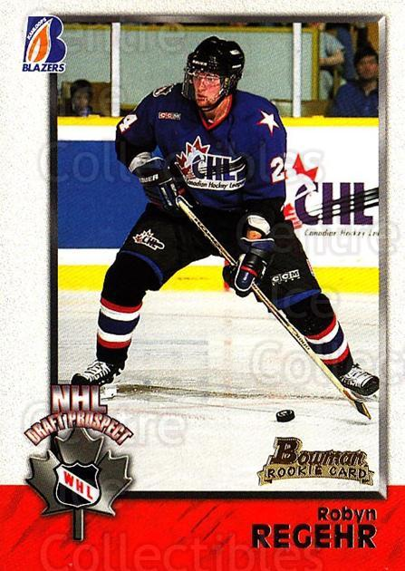 1998 Bowman CHL #137 Robyn Regehr<br/>10 In Stock - $1.00 each - <a href=https://centericecollectibles.foxycart.com/cart?name=1998%20Bowman%20CHL%20%23137%20Robyn%20Regehr...&quantity_max=10&price=$1.00&code=65696 class=foxycart> Buy it now! </a>