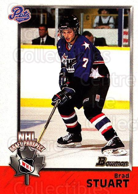 1998 Bowman CHL #138 Brad Stuart<br/>11 In Stock - $1.00 each - <a href=https://centericecollectibles.foxycart.com/cart?name=1998%20Bowman%20CHL%20%23138%20Brad%20Stuart...&quantity_max=11&price=$1.00&code=65697 class=foxycart> Buy it now! </a>