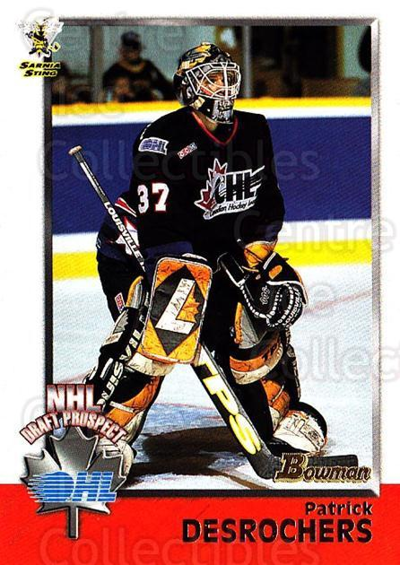 1998 Bowman CHL #139 Patrick DesRochers<br/>1 In Stock - $1.00 each - <a href=https://centericecollectibles.foxycart.com/cart?name=1998%20Bowman%20CHL%20%23139%20Patrick%20DesRoch...&quantity_max=1&price=$1.00&code=65698 class=foxycart> Buy it now! </a>