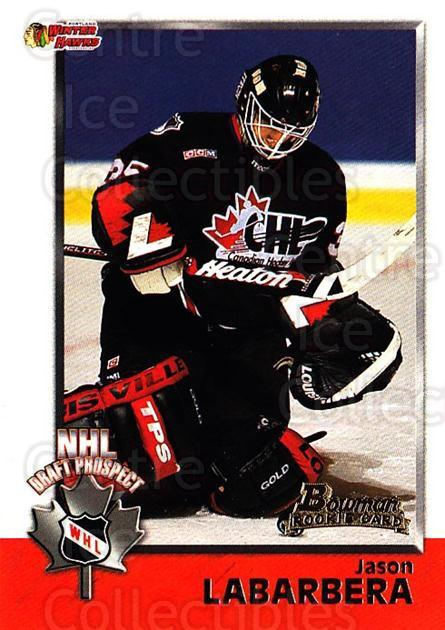 1998 Bowman CHL #140 Jason LaBarbera<br/>9 In Stock - $1.00 each - <a href=https://centericecollectibles.foxycart.com/cart?name=1998%20Bowman%20CHL%20%23140%20Jason%20LaBarbera...&quantity_max=9&price=$1.00&code=65700 class=foxycart> Buy it now! </a>