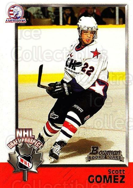 1998 Bowman CHL #145 Scott Gomez<br/>10 In Stock - $1.00 each - <a href=https://centericecollectibles.foxycart.com/cart?name=1998%20Bowman%20CHL%20%23145%20Scott%20Gomez...&quantity_max=10&price=$1.00&code=65704 class=foxycart> Buy it now! </a>