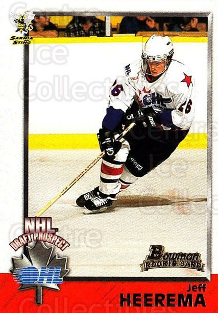 1998 Bowman CHL #146 Jeff Heerema<br/>6 In Stock - $1.00 each - <a href=https://centericecollectibles.foxycart.com/cart?name=1998%20Bowman%20CHL%20%23146%20Jeff%20Heerema...&quantity_max=6&price=$1.00&code=65705 class=foxycart> Buy it now! </a>
