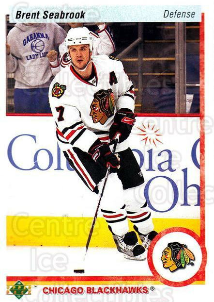 2010-11 Upper Deck 20th Anniversary Parallel #157 Brent Seabrook<br/>2 In Stock - $2.00 each - <a href=https://centericecollectibles.foxycart.com/cart?name=2010-11%20Upper%20Deck%2020th%20Anniversary%20Parallel%20%23157%20Brent%20Seabrook...&quantity_max=2&price=$2.00&code=657065 class=foxycart> Buy it now! </a>