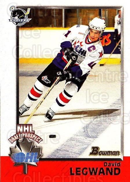 1998 Bowman CHL #147 David Legwand<br/>11 In Stock - $1.00 each - <a href=https://centericecollectibles.foxycart.com/cart?name=1998%20Bowman%20CHL%20%23147%20David%20Legwand...&quantity_max=11&price=$1.00&code=65706 class=foxycart> Buy it now! </a>