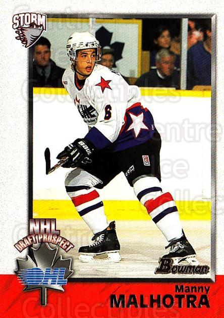 1998 Bowman CHL #148 Manny Malhotra<br/>10 In Stock - $1.00 each - <a href=https://centericecollectibles.foxycart.com/cart?name=1998%20Bowman%20CHL%20%23148%20Manny%20Malhotra...&quantity_max=10&price=$1.00&code=65707 class=foxycart> Buy it now! </a>