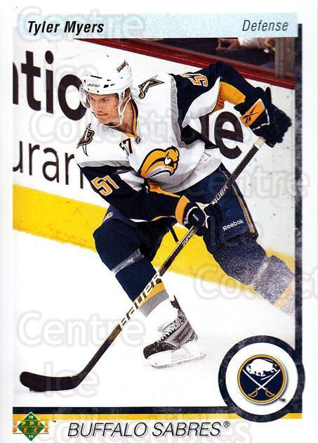 2010-11 Upper Deck 20th Anniversary Parallel #177 Tyler Myers<br/>2 In Stock - $2.00 each - <a href=https://centericecollectibles.foxycart.com/cart?name=2010-11%20Upper%20Deck%2020th%20Anniversary%20Parallel%20%23177%20Tyler%20Myers...&quantity_max=2&price=$2.00&code=657085 class=foxycart> Buy it now! </a>