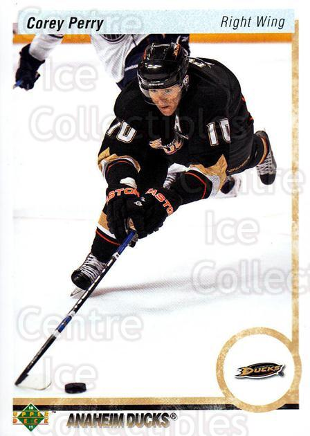 2010-11 Upper Deck 20th Anniversary Parallel #195 Corey Perry<br/>2 In Stock - $2.00 each - <a href=https://centericecollectibles.foxycart.com/cart?name=2010-11%20Upper%20Deck%2020th%20Anniversary%20Parallel%20%23195%20Corey%20Perry...&quantity_max=2&price=$2.00&code=657103 class=foxycart> Buy it now! </a>