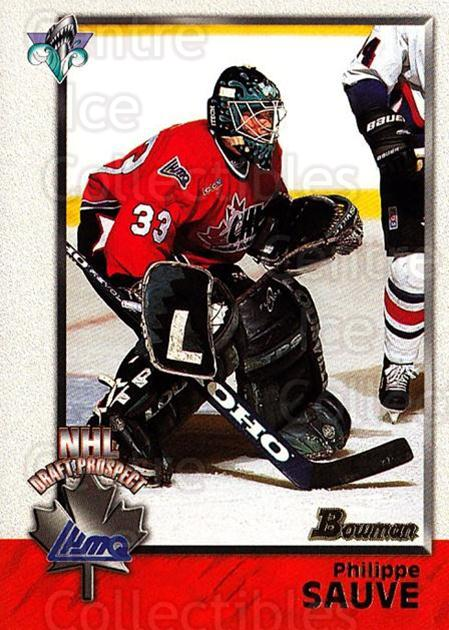 1998 Bowman CHL #160 Philippe Sauve<br/>8 In Stock - $1.00 each - <a href=https://centericecollectibles.foxycart.com/cart?name=1998%20Bowman%20CHL%20%23160%20Philippe%20Sauve...&quantity_max=8&price=$1.00&code=65721 class=foxycart> Buy it now! </a>