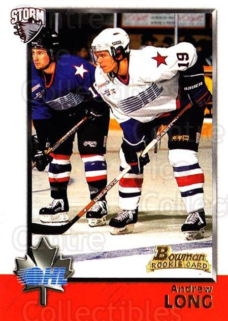 1998 Bowman CHL #17 Andrew Long<br/>5 In Stock - $1.00 each - <a href=https://centericecollectibles.foxycart.com/cart?name=1998%20Bowman%20CHL%20%2317%20Andrew%20Long...&quantity_max=5&price=$1.00&code=65727 class=foxycart> Buy it now! </a>