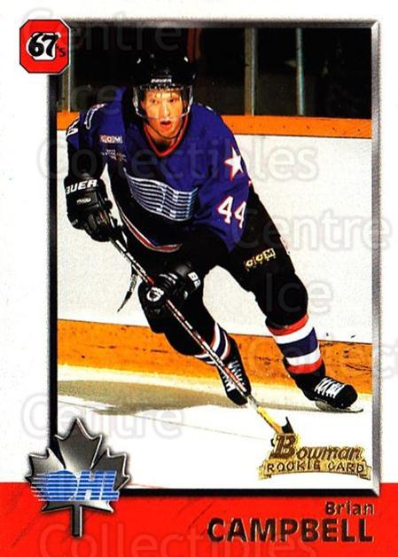 1998 Bowman CHL #23 Brian Campbell<br/>9 In Stock - $1.00 each - <a href=https://centericecollectibles.foxycart.com/cart?name=1998%20Bowman%20CHL%20%2323%20Brian%20Campbell...&quantity_max=9&price=$1.00&code=65734 class=foxycart> Buy it now! </a>
