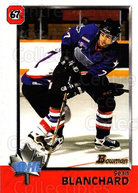 1998 Bowman CHL #24 Sean Blanchard<br/>5 In Stock - $1.00 each - <a href=https://centericecollectibles.foxycart.com/cart?name=1998%20Bowman%20CHL%20%2324%20Sean%20Blanchard...&quantity_max=5&price=$1.00&code=65735 class=foxycart> Buy it now! </a>
