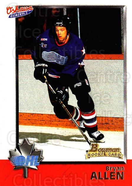 1998 Bowman CHL #25 Bryan Allen<br/>11 In Stock - $1.00 each - <a href=https://centericecollectibles.foxycart.com/cart?name=1998%20Bowman%20CHL%20%2325%20Bryan%20Allen...&quantity_max=11&price=$1.00&code=65736 class=foxycart> Buy it now! </a>