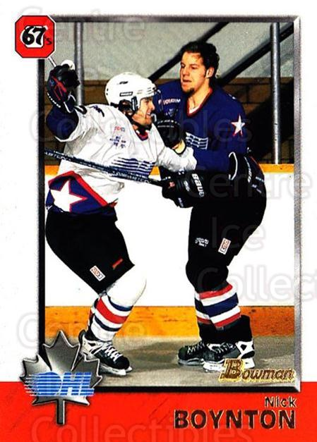 1998 Bowman CHL #27 Nick Boynton<br/>6 In Stock - $1.00 each - <a href=https://centericecollectibles.foxycart.com/cart?name=1998%20Bowman%20CHL%20%2327%20Nick%20Boynton...&quantity_max=6&price=$1.00&code=65738 class=foxycart> Buy it now! </a>