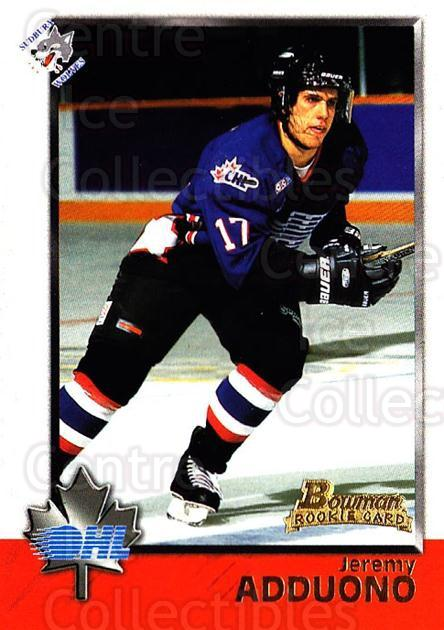 1998 Bowman CHL #29 Jeremy Adduono<br/>6 In Stock - $1.00 each - <a href=https://centericecollectibles.foxycart.com/cart?name=1998%20Bowman%20CHL%20%2329%20Jeremy%20Adduono...&quantity_max=6&price=$1.00&code=65740 class=foxycart> Buy it now! </a>
