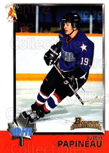 1998 Bowman CHL #31 Justin Papineau<br/>10 In Stock - $1.00 each - <a href=https://centericecollectibles.foxycart.com/cart?name=1998%20Bowman%20CHL%20%2331%20Justin%20Papineau...&quantity_max=10&price=$1.00&code=65743 class=foxycart> Buy it now! </a>