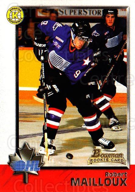 1998 Bowman CHL #33 Robert Mailloux<br/>4 In Stock - $1.00 each - <a href=https://centericecollectibles.foxycart.com/cart?name=1998%20Bowman%20CHL%20%2333%20Robert%20Mailloux...&quantity_max=4&price=$1.00&code=65745 class=foxycart> Buy it now! </a>