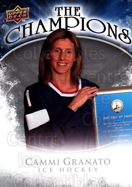 2009-10 Upper Deck The Champions #CHCG Cammie Granato<br/>1 In Stock - $3.00 each - <a href=https://centericecollectibles.foxycart.com/cart?name=2009-10%20Upper%20Deck%20The%20Champions%20%23CHCG%20Cammie%20Granato...&quantity_max=1&price=$3.00&code=657470 class=foxycart> Buy it now! </a>