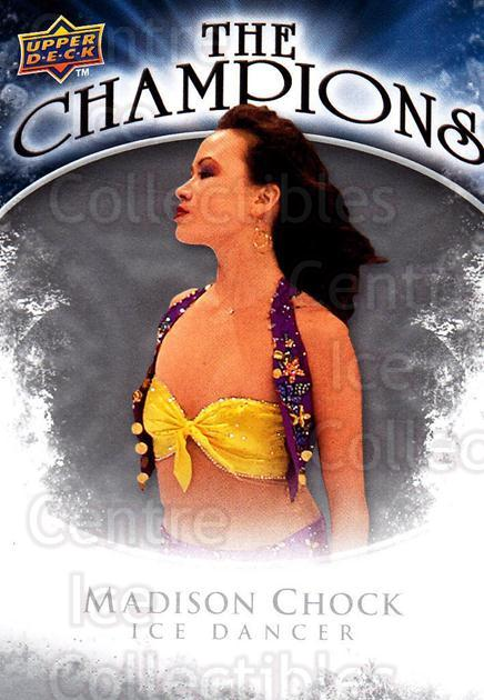 2009-10 Upper Deck The Champions #CHMC Madison Chock<br/>1 In Stock - $2.00 each - <a href=https://centericecollectibles.foxycart.com/cart?name=2009-10%20Upper%20Deck%20The%20Champions%20%23CHMC%20Madison%20Chock...&quantity_max=1&price=$2.00&code=657484 class=foxycart> Buy it now! </a>