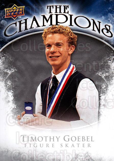 2009-10 Upper Deck The Champions #CHTG Timothy Goebel<br/>1 In Stock - $2.00 each - <a href=https://centericecollectibles.foxycart.com/cart?name=2009-10%20Upper%20Deck%20The%20Champions%20%23CHTG%20Timothy%20Goebel...&quantity_max=1&price=$2.00&code=657497 class=foxycart> Buy it now! </a>
