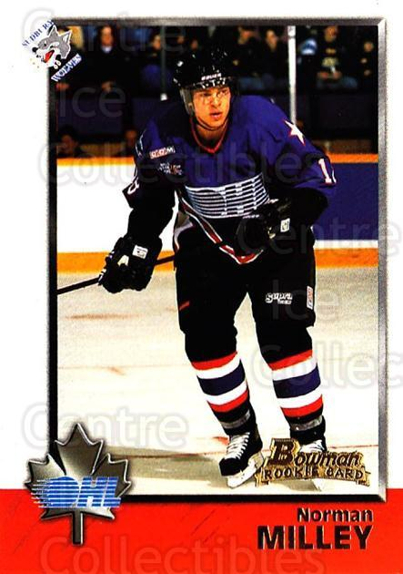 1998 Bowman CHL #38 Norm Milley<br/>8 In Stock - $1.00 each - <a href=https://centericecollectibles.foxycart.com/cart?name=1998%20Bowman%20CHL%20%2338%20Norm%20Milley...&quantity_max=8&price=$1.00&code=65750 class=foxycart> Buy it now! </a>