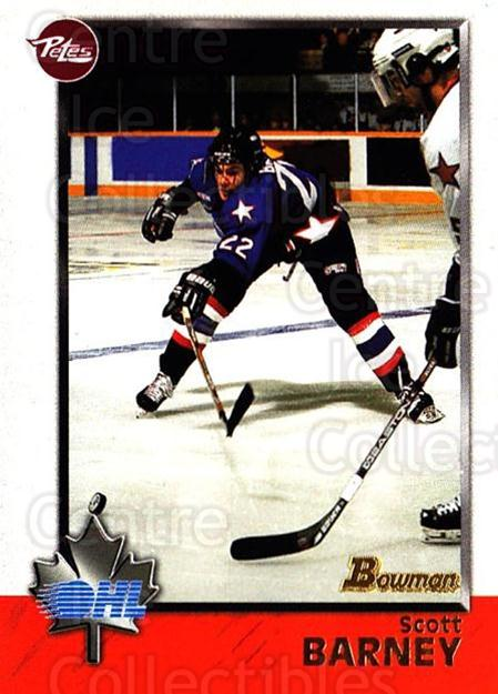 1998 Bowman CHL #39 Scott Barney<br/>8 In Stock - $1.00 each - <a href=https://centericecollectibles.foxycart.com/cart?name=1998%20Bowman%20CHL%20%2339%20Scott%20Barney...&quantity_max=8&price=$1.00&code=65751 class=foxycart> Buy it now! </a>