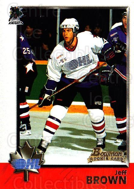 1998 Bowman CHL #4 Jeff Brown (2)<br/>9 In Stock - $1.00 each - <a href=https://centericecollectibles.foxycart.com/cart?name=1998%20Bowman%20CHL%20%234%20Jeff%20Brown%20(2)...&quantity_max=9&price=$1.00&code=65752 class=foxycart> Buy it now! </a>