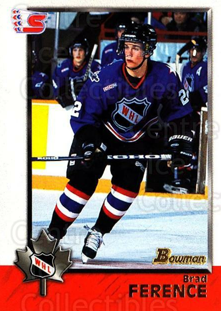 1998 Bowman CHL #43 Brad Ference<br/>10 In Stock - $1.00 each - <a href=https://centericecollectibles.foxycart.com/cart?name=1998%20Bowman%20CHL%20%2343%20Brad%20Ference...&quantity_max=10&price=$1.00&code=65756 class=foxycart> Buy it now! </a>