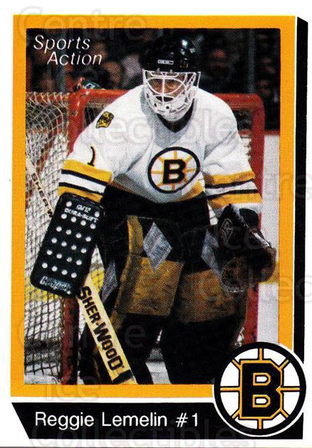 1988-89 Boston Bruins Sports Action Blank Backs #10 Rejean Lemelin<br/>6 In Stock - $3.00 each - <a href=https://centericecollectibles.foxycart.com/cart?name=1988-89%20Boston%20Bruins%20Sports%20Action%20Blank%20Backs%20%2310%20Rejean%20Lemelin...&price=$3.00&code=657602 class=foxycart> Buy it now! </a>