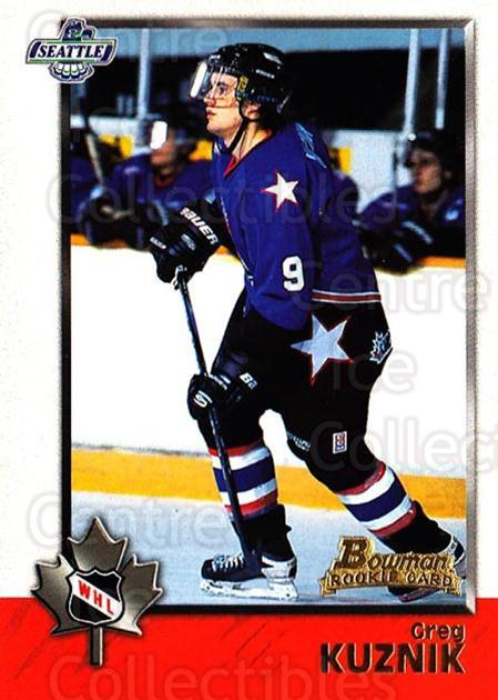 1998 Bowman CHL #47 Greg Kuznik<br/>5 In Stock - $1.00 each - <a href=https://centericecollectibles.foxycart.com/cart?name=1998%20Bowman%20CHL%20%2347%20Greg%20Kuznik...&quantity_max=5&price=$1.00&code=65760 class=foxycart> Buy it now! </a>