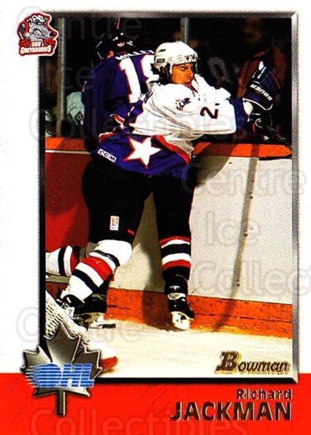 1998 Bowman CHL #5 Richard Jackman<br/>6 In Stock - $1.00 each - <a href=https://centericecollectibles.foxycart.com/cart?name=1998%20Bowman%20CHL%20%235%20Richard%20Jackman...&quantity_max=6&price=$1.00&code=65763 class=foxycart> Buy it now! </a>