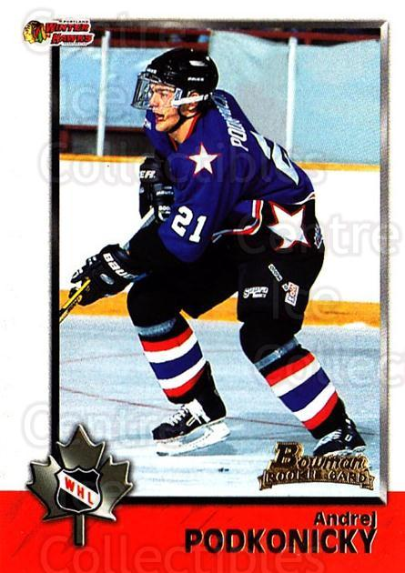 1998 Bowman CHL #56 Andrei Podkonicky<br/>8 In Stock - $1.00 each - <a href=https://centericecollectibles.foxycart.com/cart?name=1998%20Bowman%20CHL%20%2356%20Andrei%20Podkonic...&quantity_max=8&price=$1.00&code=65770 class=foxycart> Buy it now! </a>