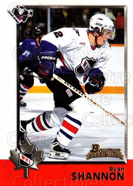1998 Bowman CHL #63 Ryan Shannon<br/>5 In Stock - $1.00 each - <a href=https://centericecollectibles.foxycart.com/cart?name=1998%20Bowman%20CHL%20%2363%20Ryan%20Shannon...&quantity_max=5&price=$1.00&code=65778 class=foxycart> Buy it now! </a>